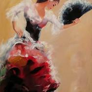 Flamenca con Abanico