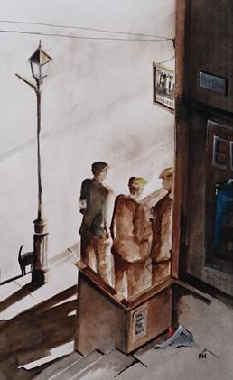 Three Men on a corner