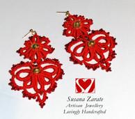 Red Frivolite Earrings £32