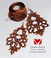 Brown Frivolite Earrings £32