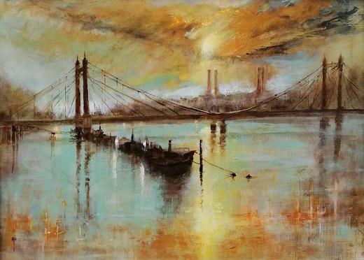 Albert Bridge at Sunset