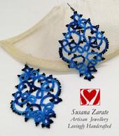 Blue Frivolite Earrings £32