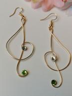 Gold Musical Earrings £15