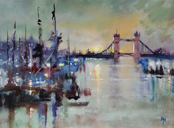 Sun Down Tower Bridge, London