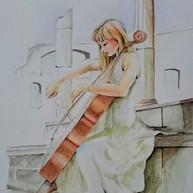 Cello in White