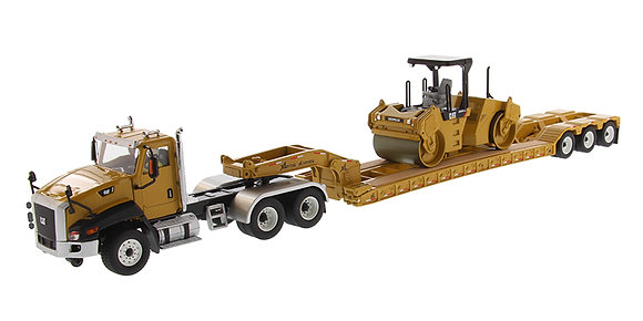 Caterpillar CT660 Day Cab with XL 120 Low-Profile HDG Lowboy Trailer and Cat CB-