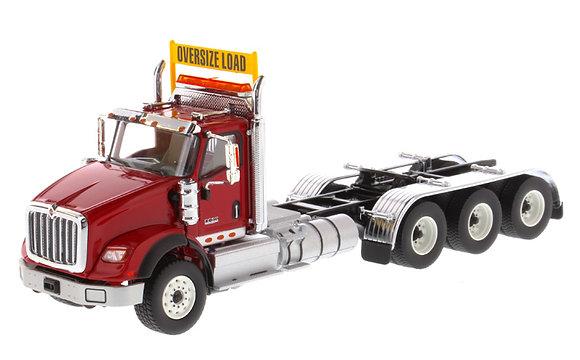 International HX620 Day Cab Tridem Tractor in Red