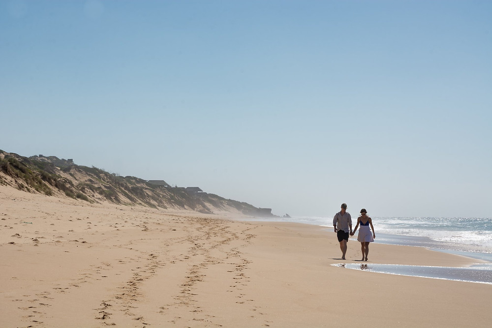 Walk to Tofo, Mozambique - had the beach to ourselves!