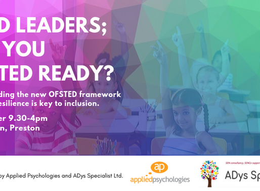 SEND Leaders; Are you OFSTED ready?