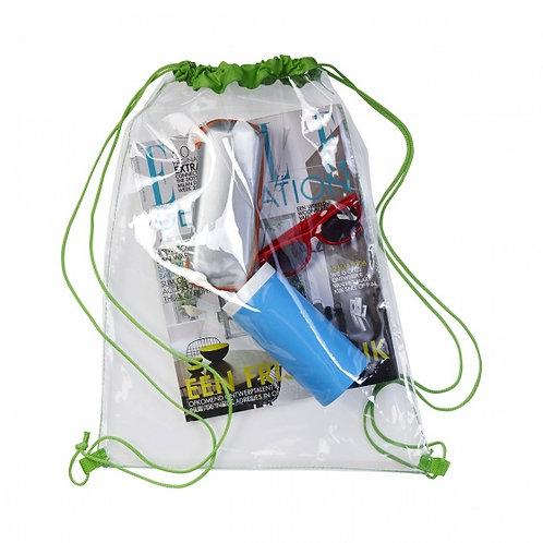 Drawstring Bag - naked and transparent