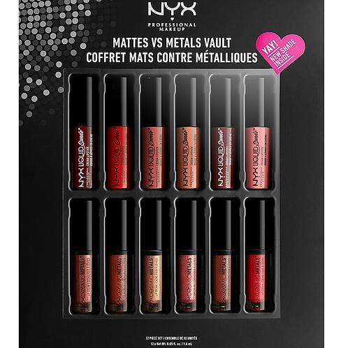 NYX Professional Make Up - Mattes vs Metals Vault, Lip Colour
