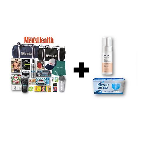 Men's Health Showbag + STAY SAFE (ZOONO & Mask) Bundle Pack