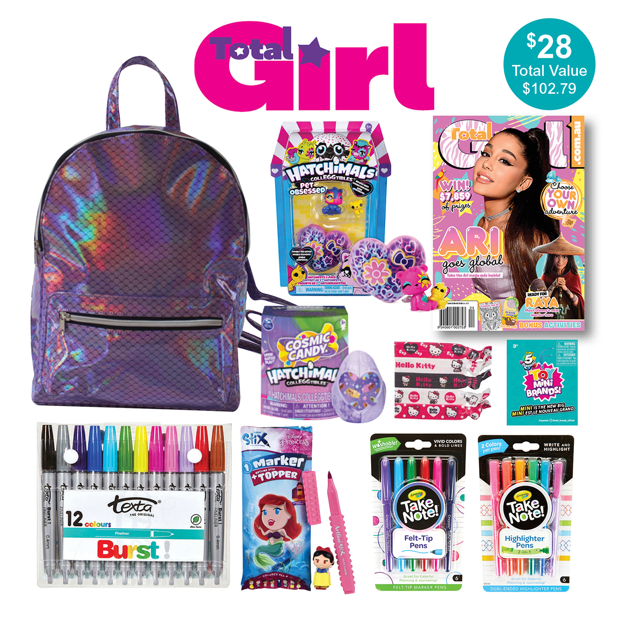 Total Girl Magazine Showbag
