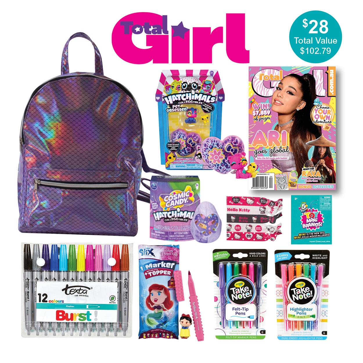 Total Girl Magazine Showbag