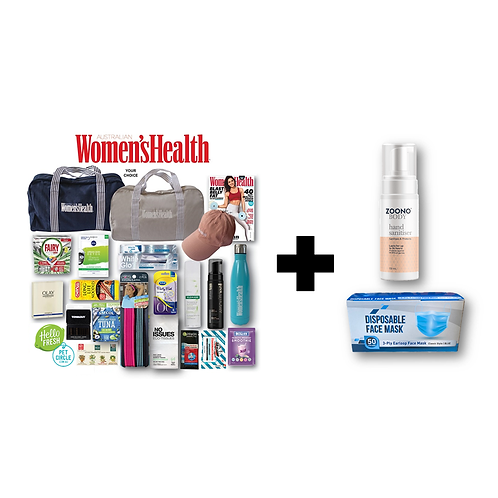 Women's Health Showbag + STAY SAFE (ZOONO & Mask) Bundle Pack