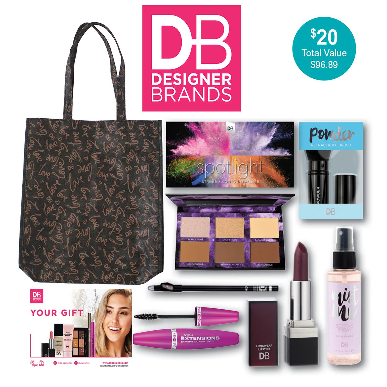 Designer Brands Cosmetic Showbag