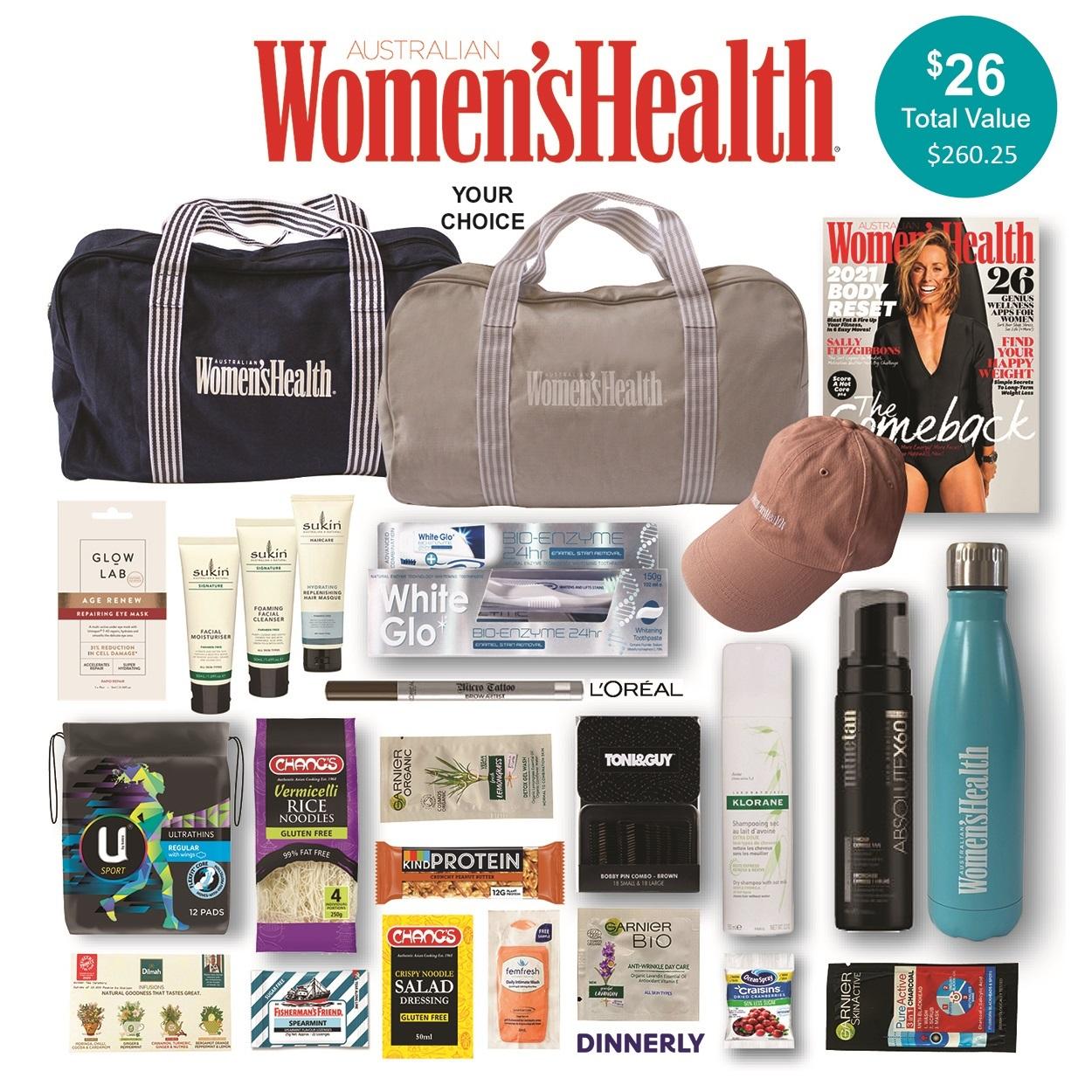 Women's Health Magazine Showbag