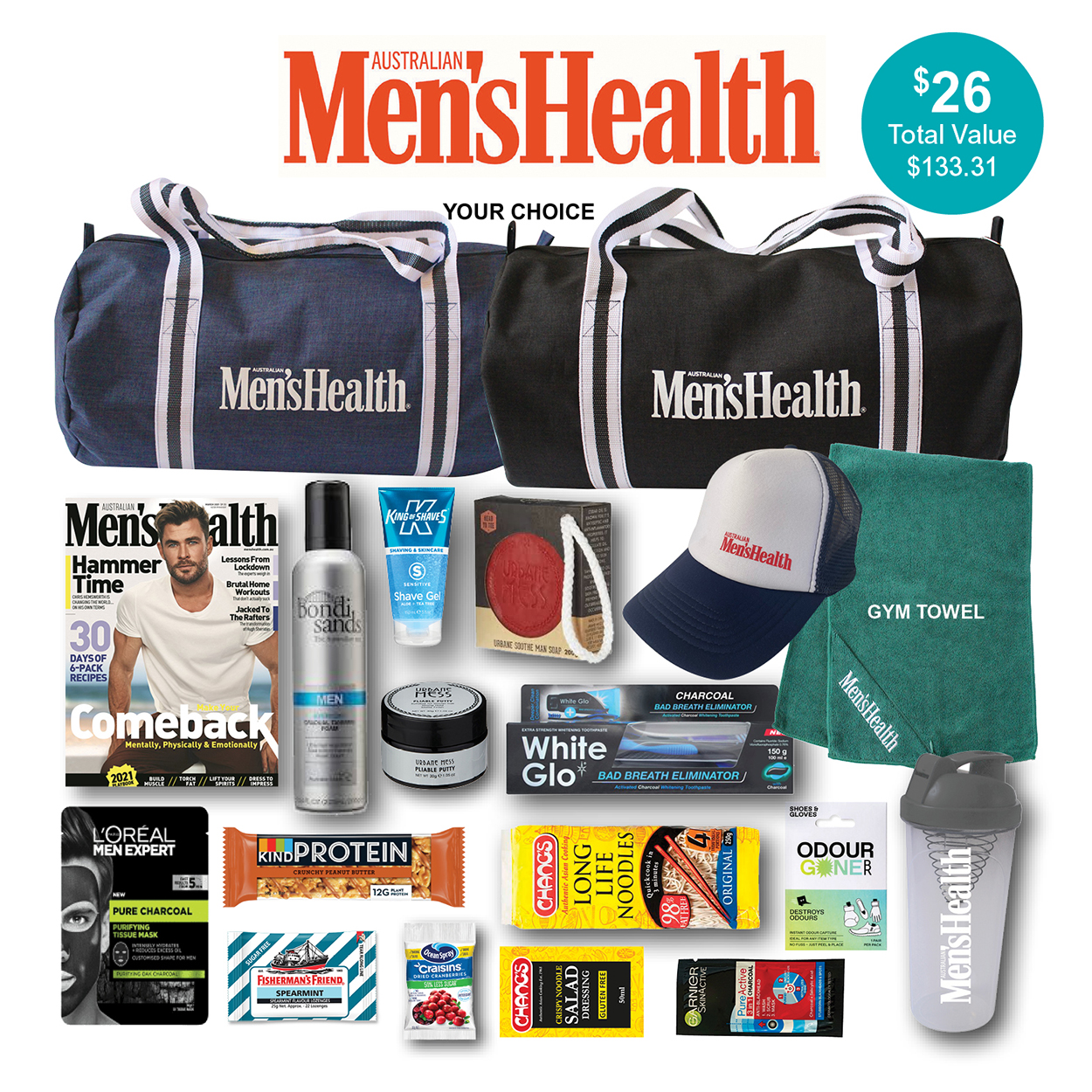 Men's Health Magazine Showbag
