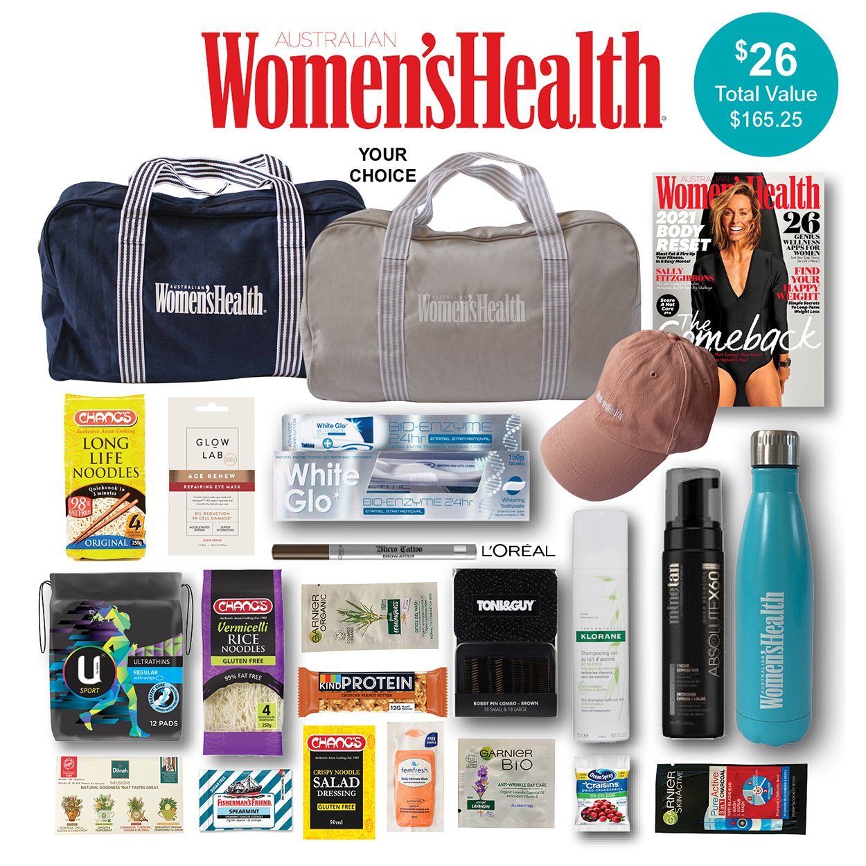 Women's Health Magazine Showbag