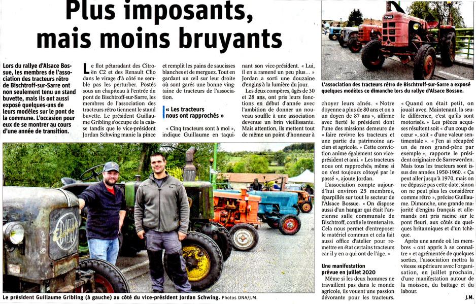 DNA du 30_09 RAB 2019 Article Tracteurs de Bischtroff sur Sarre001