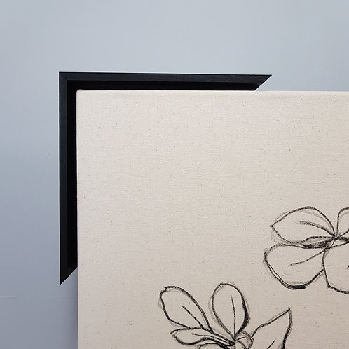 Black Rustic Thick Frame