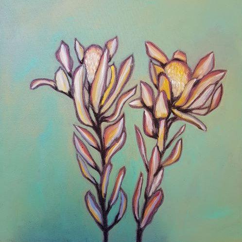 Protea in Aqua Green II