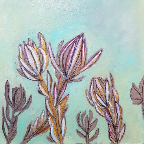 Protea in Aqua Green I