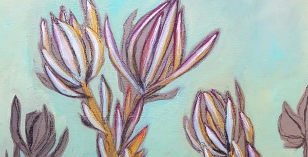 Protea in Aqua Green I