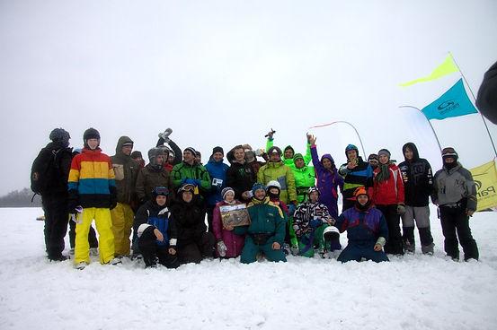 соревнования по сноукайтингу в Нижнем Новгороде Хвалинкие гонки