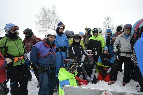 Соревнования по сноукайтингу в Нижнем Новгороде Хвалинские гонки