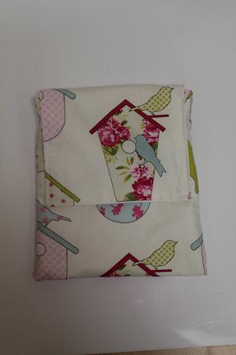Across The Body Bag - Pink Birdhouse Print