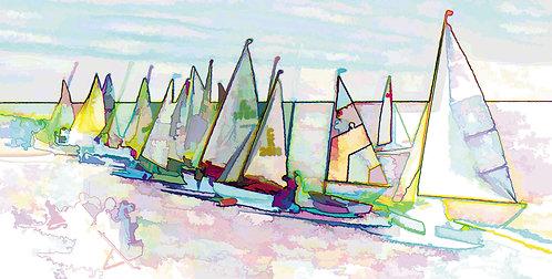 """""""Sailing Boats"""" Photograph Print"""