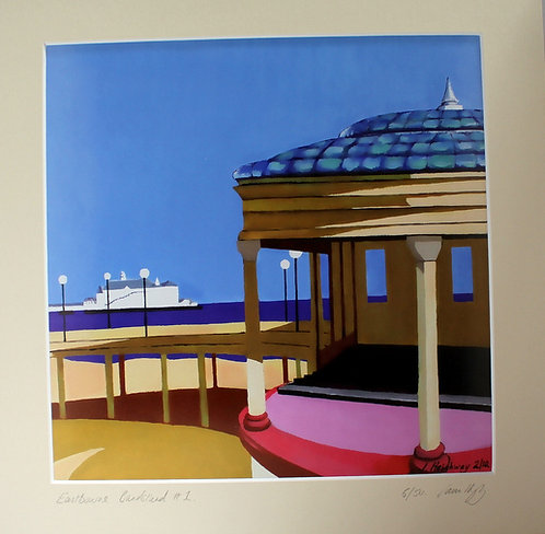Bandstand and Pier Print - Original Art by James Heighway