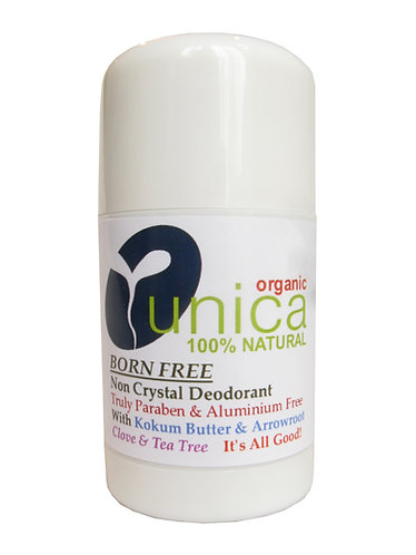UNICA COSMETICS - BORN FREE - CLOVE & TEA TREE - 100% Natural Non Crystal Deodor