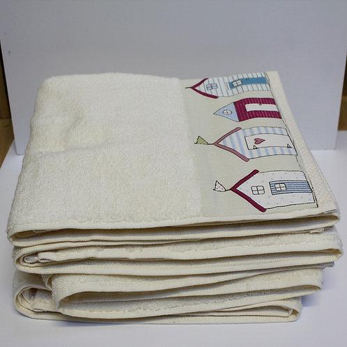 Beach Hut Cotton Applique Towel