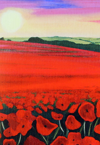 Poppy Field Print  - Original Art by James Heighway