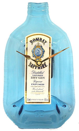 Flattened Bottle Clock - Bombay Sapphire