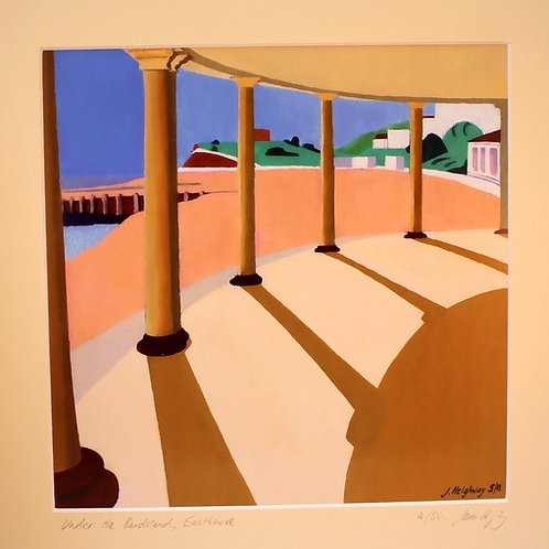 Under The Bandstand Print  - Original Art by James Heighway