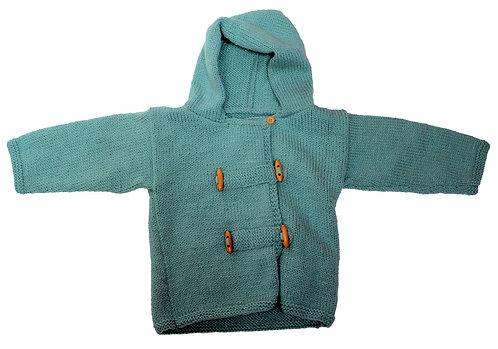 Glacier Blue Duffle Coat.