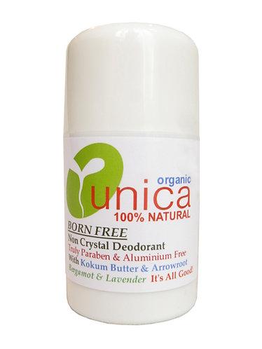 UNICA COSMETICS - BORN FREE - BERGAMOT & LAVENDER - 100% Natural Non Crystal Deo