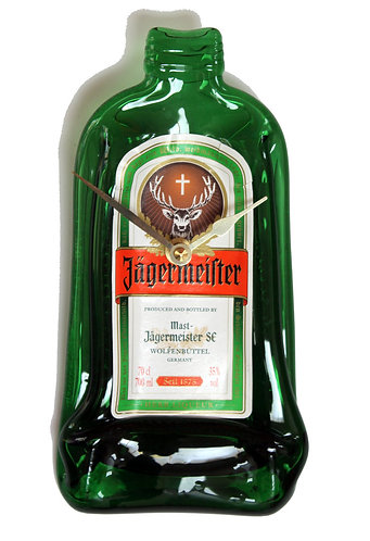 Flattened Bottle Clock - Jagermeister