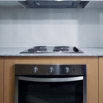 With 4-burner cooktop, ovem & rangehood