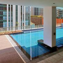 Pool area facing Grand Hyatt