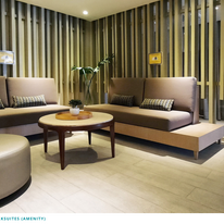 Lounge area for spa