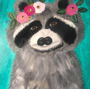 Flower Crown Animals: Raccoon