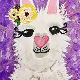 Flower Crown Animals: Llama