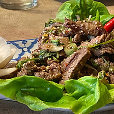 Spicy beef salad (Also available with Pork)