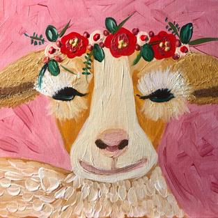 Flower Crown Animals: Goat