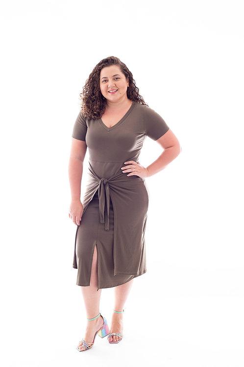 Vestido Magda - Verde Oliva