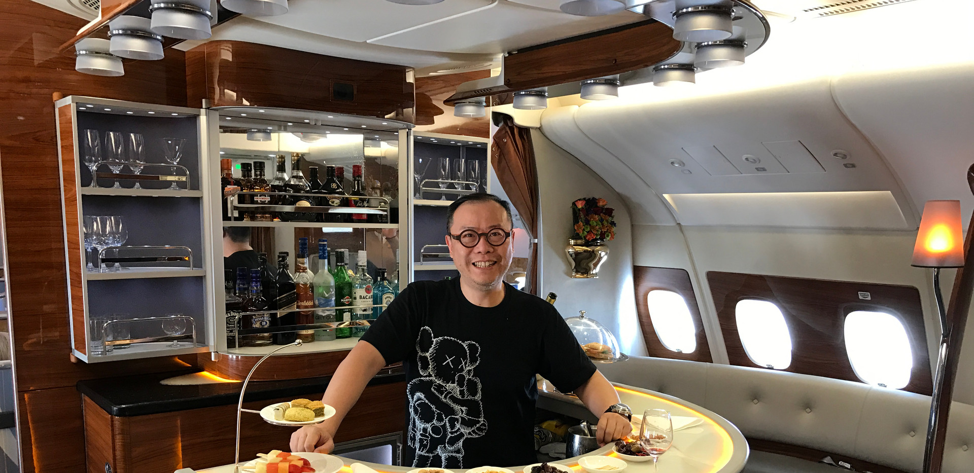 On board Emirates Biz Class from Bangkok Feb 2017